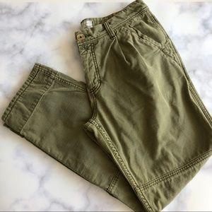 Free People Utility Boyfriend Pants in Moss